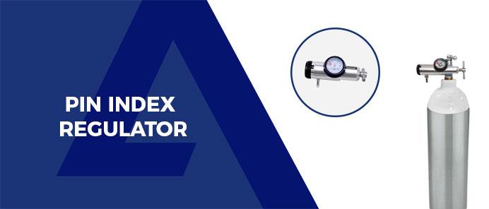 Cylinder with pin index regulator